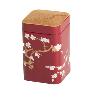 Boite à thé fleurie